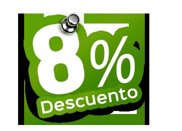 Promoción-Descuento 8%